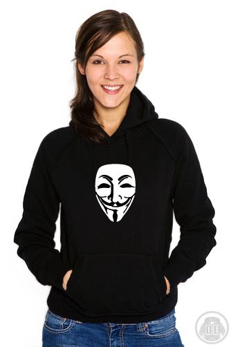 Frauen Hoodie, gestaltbare Anonymous Maske