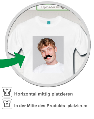 Drucke dein personalisiert Portrait mit Schnurrbart