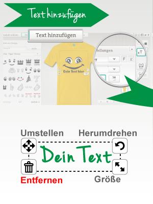 Das Änderungswerkzeug für den Text