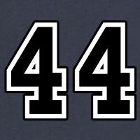 T-shirts 44 Nummer USA personnalisés