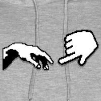 Accessoires und T-Shirts Adams Erschaffung geek gestalten