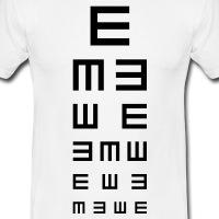 Accessoires und T-Shirts Augenarzt Sehtest gestalten