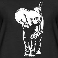 T-shirts Baby Elefant umgekehrt personnalisés