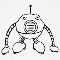 Accessoires und T-Shirts Ball Roboter Striche gestalten