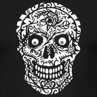 Accessoires und T-Shirts Blühender Totenkopf gestalten