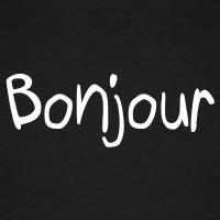 Accessoires und T-Shirts Bonjour Französich gestalten