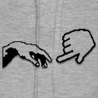 Accessoires und T-Shirts Michelangelo pixel art durchsichtig gestalten
