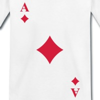 Accessoires und T-Shirts Diagonales Karo Kartenspiel gestalten