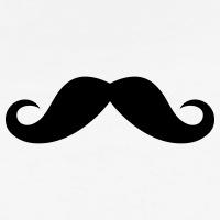 Accessoires und T-Shirts Einfacher englischer Schnurrbart gestalten