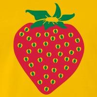 Accessoires und T-Shirts Erdbeere zwei Farben gestalten