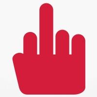 Accessoires und T-Shirts Finger Salute Pikto gestalten