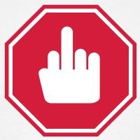 Accessoires und T-Shirts Finger Salute Straßenschild gestalten
