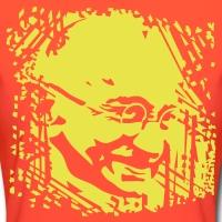 Accessoires und T-Shirts Gandhi Porträt Hintergrund gestalten