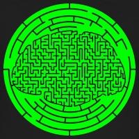 Accessoires und T-Shirts Gehirn voll Labyrinth gestalten