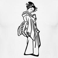 Accessoires und T-Shirts Geisha Stich Hiroshige gestalten