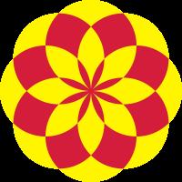 Accessoires und T-Shirts Geometrischer Lotus Zwei Farben gestalten