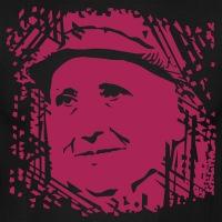Accessoires und T-Shirts Gertrude Stein Porträt gestalten