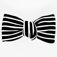 T-shirts Gestreifte Fliege personnalisés