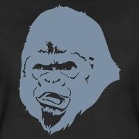 Accessoires und T-Shirts Gorilla 1 Farbe gestalten