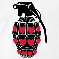 Accessoires und T-Shirts Granate mit Herzen gestalten