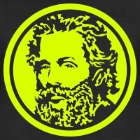 T-shirts Herman Melville umgekehrt personnalisés