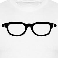 Accessoires und T-Shirts Hipster Brille dickes Gestell gestalten