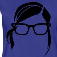 Accessoires und T-Shirts Hipster Frau Lange Haare gestalten