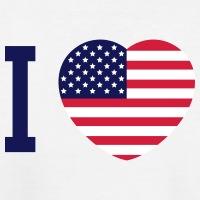 T-shirts I love America Herz personnalisés