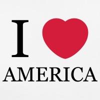 T-shirts I love America rundliches Herz personnalisés