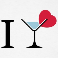 T-shirts I love cocktails Piktogramm personnalisés