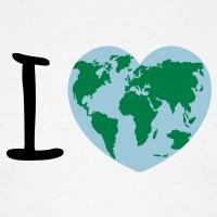 Accessoires und T-Shirts I love earth Ökologie gestalten
