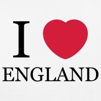 T-shirts I love England Herz personnalisés