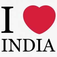 Accessoires und T-Shirts I love India Herz gestalten