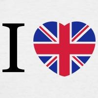 Accessoires und T-Shirts I love UK Herz Fahne gestalten