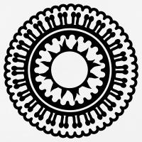 Accessoires und T-Shirts Indische Rosette gestalten