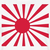 Accessoires und T-Shirts Japanisches Rad und Strahlen gestalten