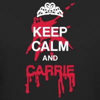 Accessoires und T-Shirts Keep calm and Carrie Parodie gestalten