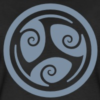 T-shirts Keltische Triskele umgekehrt personnalisés