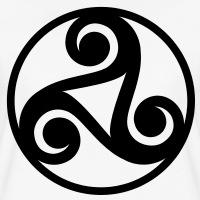 T-shirts Keltische Triskele und Kreis personnalisés
