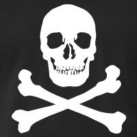Accessoires und T-Shirts Klassischer Totenkopf gestalten