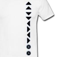 Accessoires und T-Shirts Konami Code vertikal gestalten