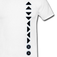 T-shirts Konami Code vertikal personnalisés