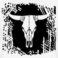 Accessoires und T-Shirts Kuhkopf Western gestalten