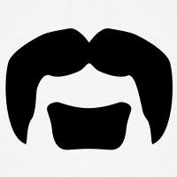 Accessoires und T-Shirts Lemmys Schnurrbart gestalten