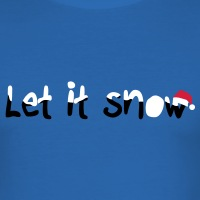 Accessoires und T-Shirts Let it snow Weihnachten gestalten