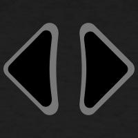 Accessoires und T-Shirts Links Rechts Pfeile gestalten