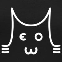Accessoires und T-Shirts Meow Katze Typografie gestalten