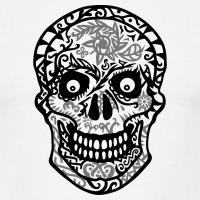 Accessoires und T-Shirts Mexikanischer Totenkopf 2 Farben gestalten