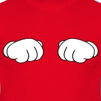 Accessoires und T-Shirts Mickey Handschuhe Faust gestalten