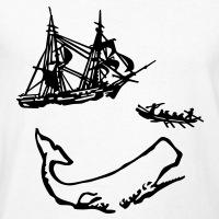T-shirts Moby Dick Abbildung personnalisés